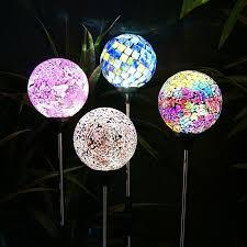 Solar LED Mosaic Glass Garden Stake Garden And Pond DepotSolar Mosaic Garden Lights