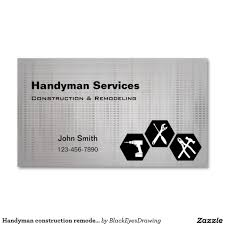 Remodeling And Design Business Handyman Construction Remodeling Business Cards Zazzle Com