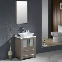 bathroom vanities 36 inch. Fresca Torino (single) 24-Inch Gray Oak Modern Bathroom Vanity With Vessel Sink Vanities 36 Inch L