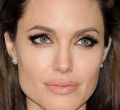 neutral eyeshadow angelina jolie angelina jolie added drama to her natural look with lush lashes shimmering gloss pleted