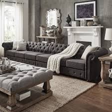 Knightsbridge Oversize Extra Long Tufted Chesterfield Modular Sofa by  iNSPIRE Q Artisan (6-Seat