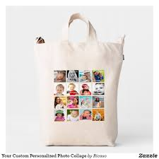 Design Your Own Duck Your Custom Personalized Photo Collage Duck Bag Zazzle Com