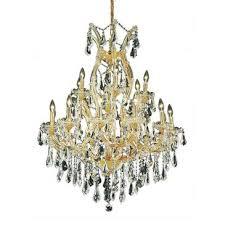 elegant lighting maria theresa 19 light gold chandelier clear royal cut crystal 2801d32g rc