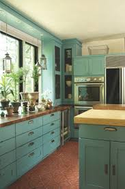 Teal Kitchen Kitchen Cabinets Teal Quicuacom