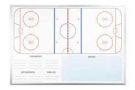 wall mounted hockey dry erase boards