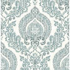 NuWallpaper 30.75-sq ft Blue Vinyl ...