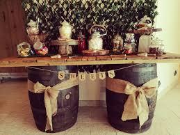 rustic barrel table