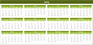 Annual Calendar 2015 Free Annual Calendar 2015 To Download Excel Templates For