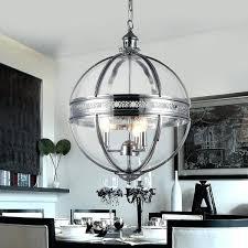 3 light globe pendant 3 light chandelier 3 bulb pendant light with black shades chrome haworth 3 light globe