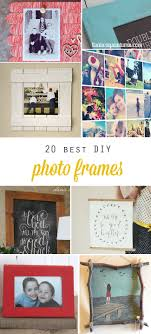 20 best DIY picture frame tutorials on the web - these are cool! Learn how