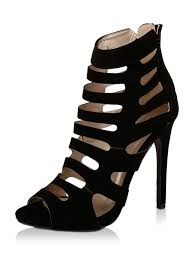 Buy Qupid Black Cage Heels For Girls Online In India