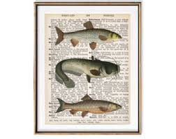 office decorations for men. fish art hunting decor fishing gift for men mens office dictionary decorations n