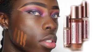 testing new makeup revolution foundation darkest shade on dark skin