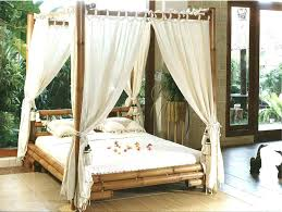 Bamboo Canopy Bed Rural Style Bedroom With Canopy Bed Bamboo ...