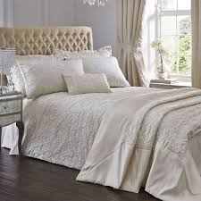luxury spencer jacquard duvet cover set ivory cream hover to zoom
