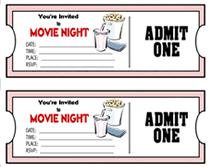Play Ticket Template Golden Silver Ticket Corporate Invitation Movie Ticket Invitation