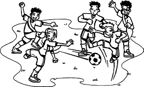 Small Picture Football Player Playing Street Soccer Coloring Page Wecoloringpage
