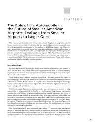 Chapter 4 The Role Of The Automobile In The Future Of