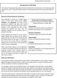 How To Write In Apa Format For Research Paper An Abstract Style