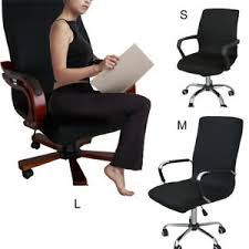 computer chair slipcover. Plain Slipcover Image Is Loading 1xSwivelComputerChairCoverStretchOfficeArmchair To Computer Chair Slipcover R
