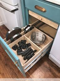 how to build organized and customized pul out shelf for cookware middle shelf for