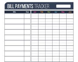 bill organizer template bill payment checklist printable editable personal finance