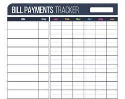 bill organizer template bill payment checklist printable editable personal finance