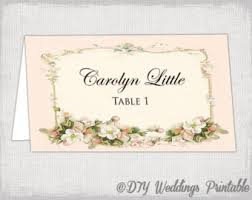 greenery wedding table place card template flat and folded Printable Wedding Place Card Template pink place card template \