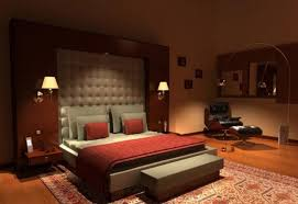 bedroom paint colors with dark brown furniture grey wall white red bed white pendant lamp interesting