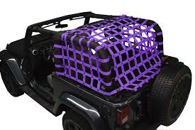 dirty dog 4x4 rear seat netting purple for 2007 2018 jeep wrangler jku unlimited 4 door
