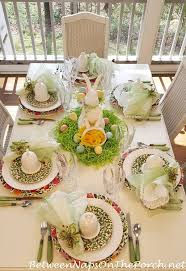 spring easter table setting with spode