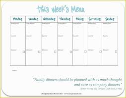Monthly Dinner Planner Free Printable Monthly Meal Planner Template Weekly With