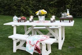 Appealing Painting Wooden Outdoor Furniture Painting White Outdoor