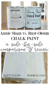 annie sloan chalk paint vs rust oleum chalked paint a side by side comparison