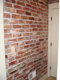 permalink to awesome faux painted brick wall