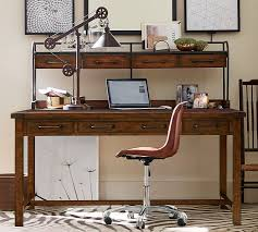 pottery barn bench style office desk rustic. Pottery Barn Bench Style Office Desk Rustic N