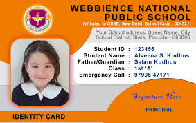 Identification Card Template Adress Letter 15