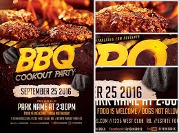 Bbq Flyer Template Bbq Party Flyer Template On Behance Bbq