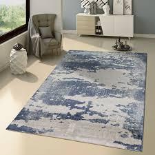 Details Zu Teppich Modern Ausgefallen Vintage Stil Orient Muster Jeans Blue Trend Blau Grau