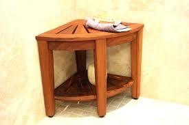 small shower chair stools bar stool seat wooden bath corner fold down teak seats