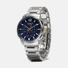 coach bleecker chrono stainless steel bracelet watch in blue for gallery