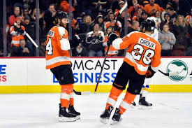 flyers philly couturier flyers spoil schenns return to philly in 6 3 win