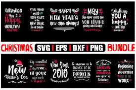 Happy New Year Christmas Bundle Graphic By Svg In Design Creative Fabrica