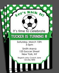 Soccer Party Invite Soccer Invitation Printable Or Printed With Free Shipping
