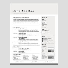 Modern Resume New Personalize A Modern Resume Template In Ms Word