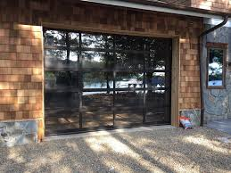 Clear glass garage door Industrial Contemporary Dark Bronze Aluminum Clear Tempered Glass Garage Door Lux Garage Doors Wayne Dalton Garage Doors Contemporary Dark Bronze Aluminum Clear Tempered Glass Garage Door