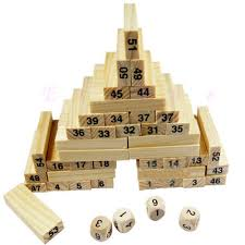 How To Play Tumbling Tower Wooden Block Game 100 Blocks100 Dices Children Wooden Tumbling Stacking Jenga Tower 42