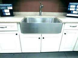 farm sink installation kit farmhouse cabinets sinks vine undermount vs drop in a front beyo