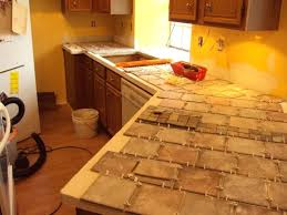 tile kitchen countertops white gray some brown tones modern subway marble diy ceramic