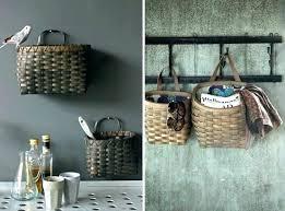 wall mounted storage baskets basket brilliant kitchen decor bathroom wire storage baskets wall mounted uk wall wall mounted storage baskets